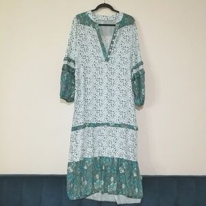 Dresses & Skirts - Green Ditsy Print Floral Boho Muu muu Cover up